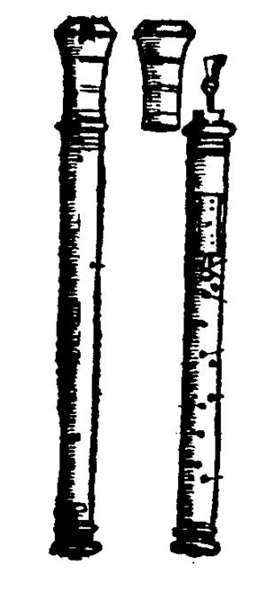 Kortholt - Kortholt from Praetorius, Syntagma musicum, Wolfenbüttel 1619