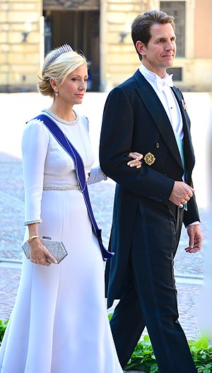 Pavlos, Crown Prince of Greece - Pavlos and his wife at the wedding of Princess Madeleine of Sweden, 8 June 2013
