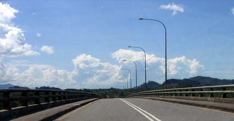 Kuching Highway from rural areas