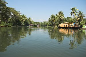 Backwater (river) - Kumarakom lake in Kerala backwaters
