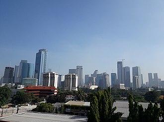 Setiabudi - Mega Kuningan Central Business District in Setiabudi Subdistrict.