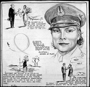 LIEUT. WILLA BROWN - AVIATRIX-MAKER OF PILOTS ...