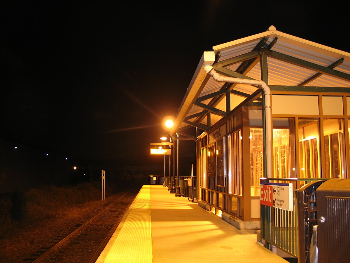 Image result for stony brook university bus stop lirr nighttime