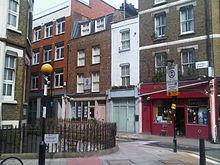 La casa di Mazzini in Laystall Street a Londra, dove abitò per molto tempo
