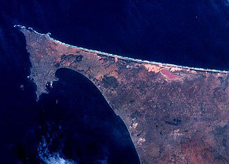 Lake Retba - Cap Vert peninsula / Dakar NASA Image Science and Analysis Laboratory, NASA-Johnson Space Center. 22 Nov. 2004.
