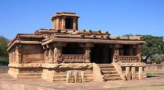Aihole - An 8th-century Shiva temple was renamed Lad Khan Temple after a Muslim commander of Bijapur Sultanate who briefly lived here.