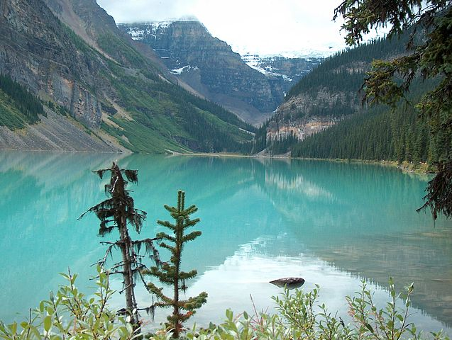 """""""Lake Louise Canada Banff"""" by Guenter Wieschendahl - Own Work--Eigenaufnahme. Licensed under Public domain via Wikimedia Commons - http://commons.wikimedia.org/wiki/File:Lake_Louise_Canada_Banff.JPG#mediaviewer/File:Lake_Louise_Canada_Banff.JPG"""