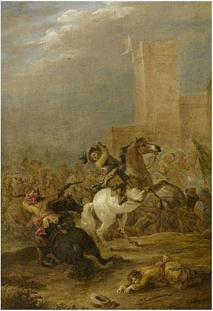 Lambert de Hondt the Elder - Battle Scene