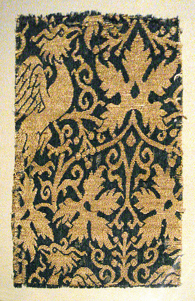 File:Lampas with phoenix silk and gold Iran or Irak 14th century.jpg