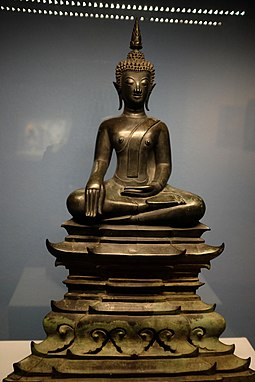 Seated Buddha figure from Lan Xang, 17th century Lan Xang - Seated Buddha - bronze.jpg