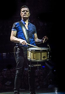 Larry Mullen Jr. Irish rock musician, U2 drummer