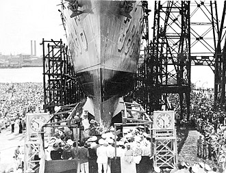 USS Bagley (DD-386) - Launching of Bagley on 3 September 1936