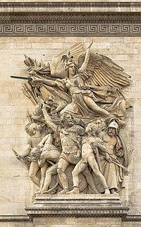 Le Départ des Volontaires (La Marseillaise) par Rude, Arc de Triomphe Etoile Paris.jpg