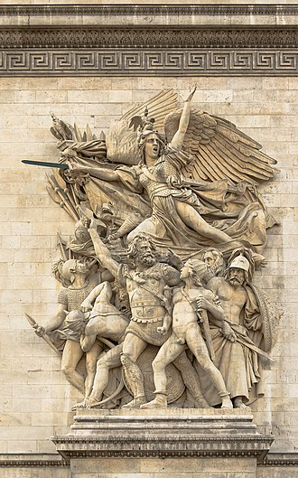 La Marseillaise - The Marseillais volunteers departing, sculpted on the Arc de Triomphe