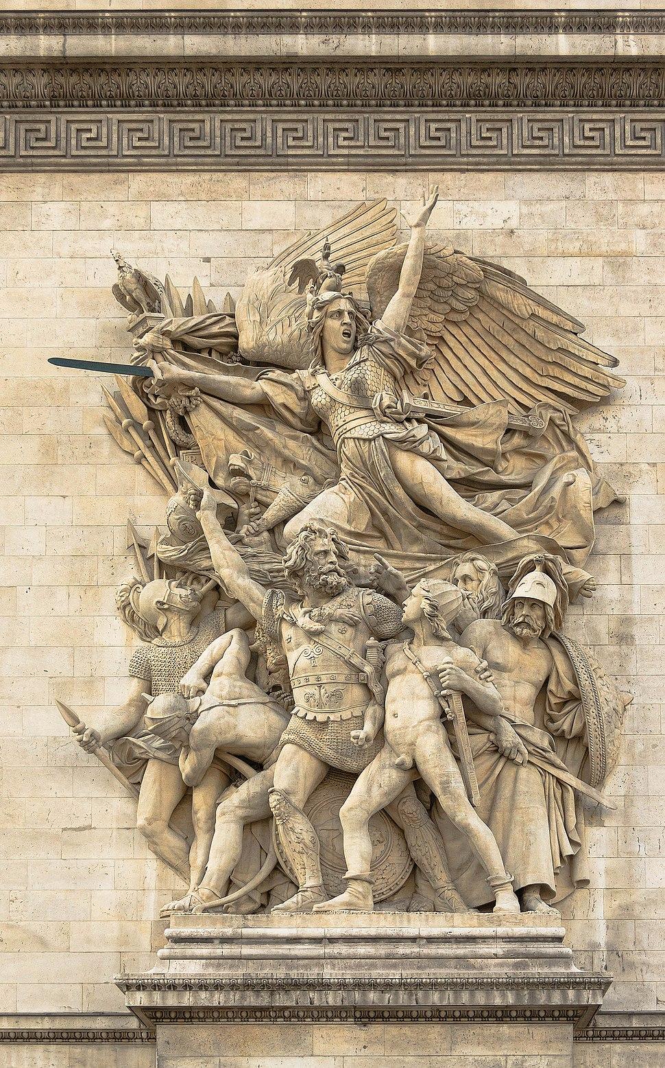 Le Départ des Volontaires (La Marseillaise) par Rude, Arc de Triomphe Etoile Paris
