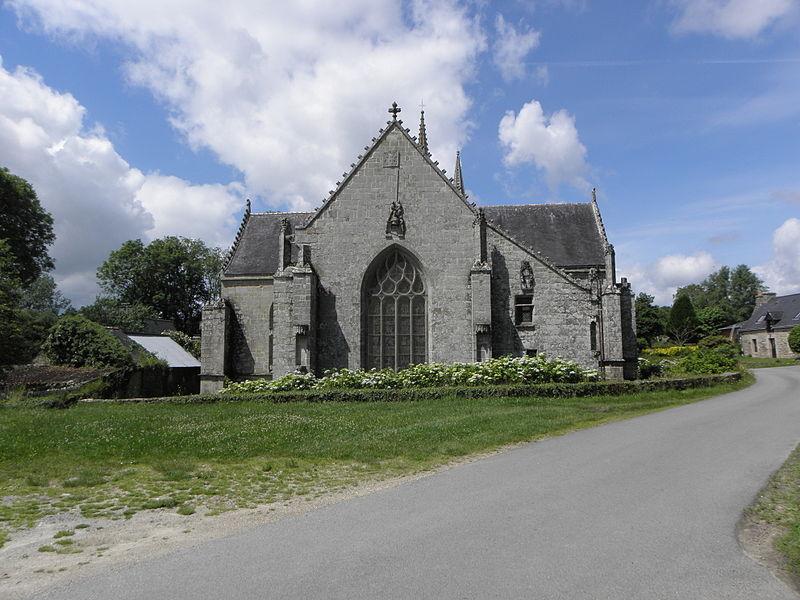 Chevet de la chapelle saint-Fiacre du Faouët (56).