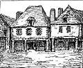 Le Faouët L'hôtel des Trois Piliers détruit en 1878.jpg