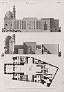 Le Kaire (Cairo). Plan, élévation et coupe longitudinale de la Mosquée de Soultân Hasan (NYPL b14212718-1268744).jpg