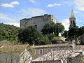 Le Pègue Château et clocher de l'église.JPG
