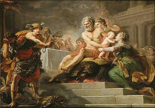 Le festin donné aux dieux par Tantale Hugues Taraval