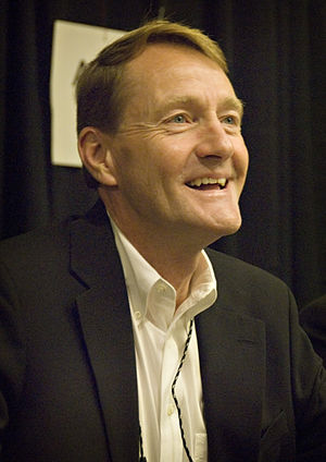 Lee Child signing at Bouchercon 2009 in Indian...