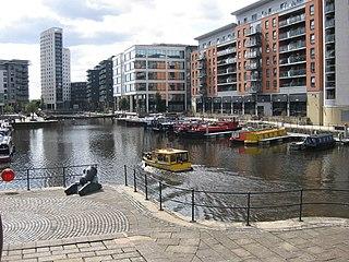 Leeds Dock mixed development in central Leeds, West Yorkshire, England