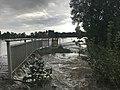 Leine flood Hemmingen 2017-07-28 L 389, K 221 whirlpool.jpg