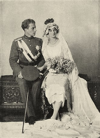 Astrid of Sweden - Astrid of Sweden and Leopold of Belgium on their wedding day.