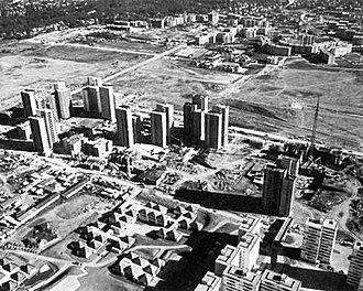 Les Ulis - Les Ulis as a building site, 1977.