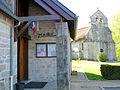 Lestards - La mairie et l'église Saint-Martial.JPG