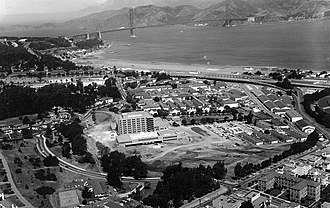Letterman Army Hospital - Letterman Army Medical Center in 1968 (Note new hospital building under construction).