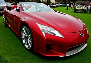 https://upload.wikimedia.org/wikipedia/commons/thumb/8/83/Lexus_LF-A_Roadster_Concours_dElegance_2008_01.jpg/300px-Lexus_LF-A_Roadster_Concours_dElegance_2008_01.jpg