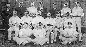 Horace Barnes - Barnes is shown here playing cricket for Ley's team in 1912. Second from left on middle row.