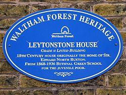 Leytonstone house (waltham forest heritage)