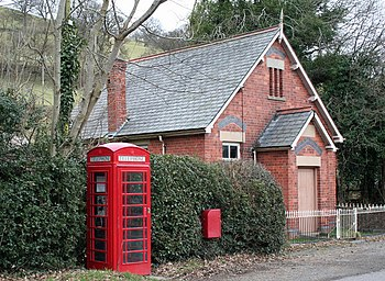 English: Lines Of Communication Chapel alongside the B4393.