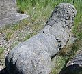Lion carving on Castle Hill, Ardrossan.JPG