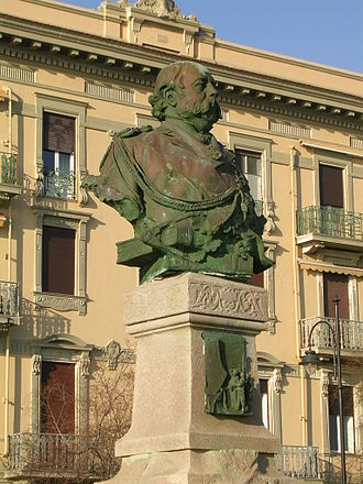 Italian Naval Academy - Monument to Benedetto Brin placed in front of L'Accademia Navale