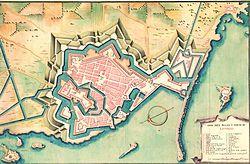 Mappa di Livorno del XVII secolo