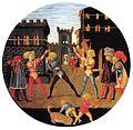 Lo Scheggia, Youths playing Civettino. ca. 1450, Museo di Palazzo Davanzati, Firenze.jpg