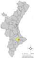 Localització de Benimassot respecte el País Valencià.png