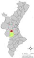 Localització de Millars respecte del País Valencià.png