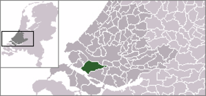 Nissewaard - Location in South Holland.