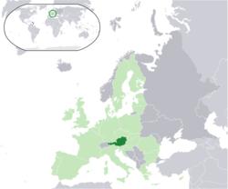 オーストリアの位置
