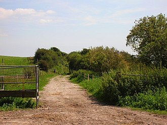 The Dyke railway station - Site of the Dyke Station in 2007