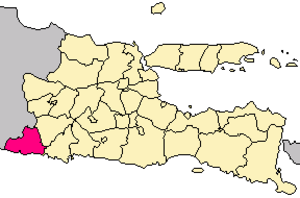 Pacitan Regency - Image: Locator kabupaten pacitan