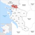 Locator map of Kanton Marans 2019.png