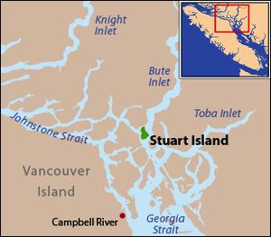 Stuart Island (British Columbia) - Image: Locmap Stuart Island
