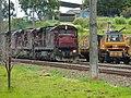 Locomotiva de comboio que entrava sentido Boa Vista no pátio da Estação Ferroviária de Itu - Variante Boa Vista-Guaianã km 202 - panoramio.jpg