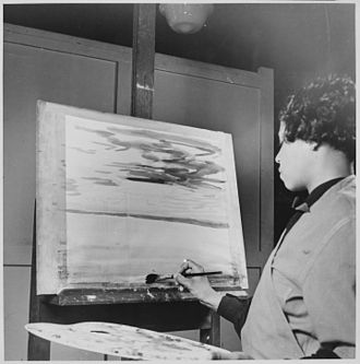 Lois Mailou Jones - Lois Jones, artist at work