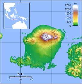 Mount Rinjani is located in Lombok